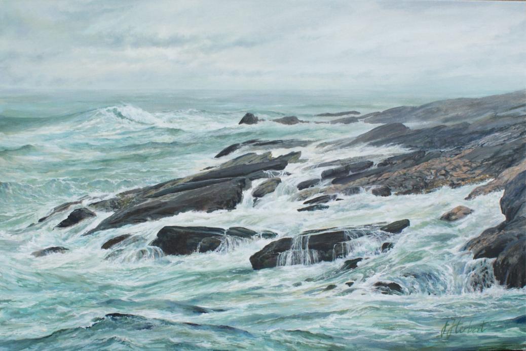 "Jane Herbert ~ ""Surge"" ~ Acrylic on Canvas 20"" x 30"""
