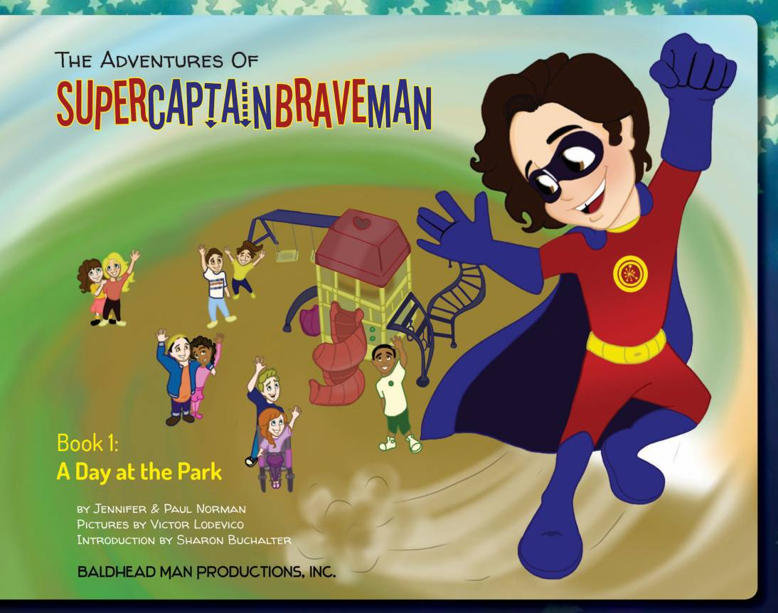 Cover Art for The Adventures of SuperCaptainBraveMan, Book 1: A Day at the Park