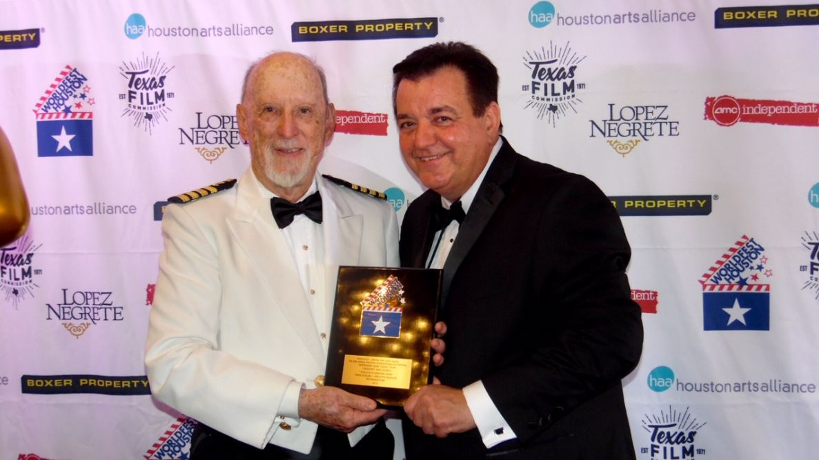 Hunter Todd, WorldFest Founder presents Special Jury NASA Remi to Kevin Stirling