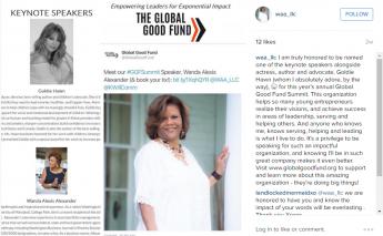 Global Good Fund - Alexander, Goldie Hawn, Steve Mariotti speak entrepreneurship