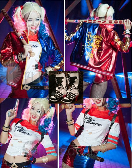 Suicide Squad Harley Quinn Movie Cosplay Costumes