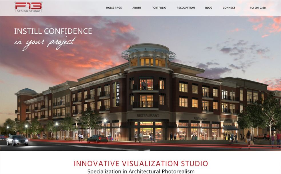 F13 Design Studio's Newly Launched Website