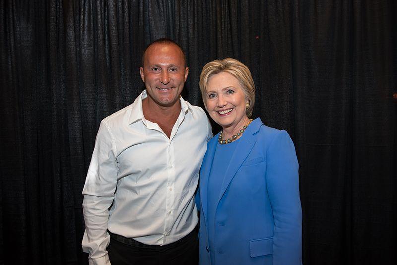 CEO Andy Khawaja with Hillary Clinton April 2016