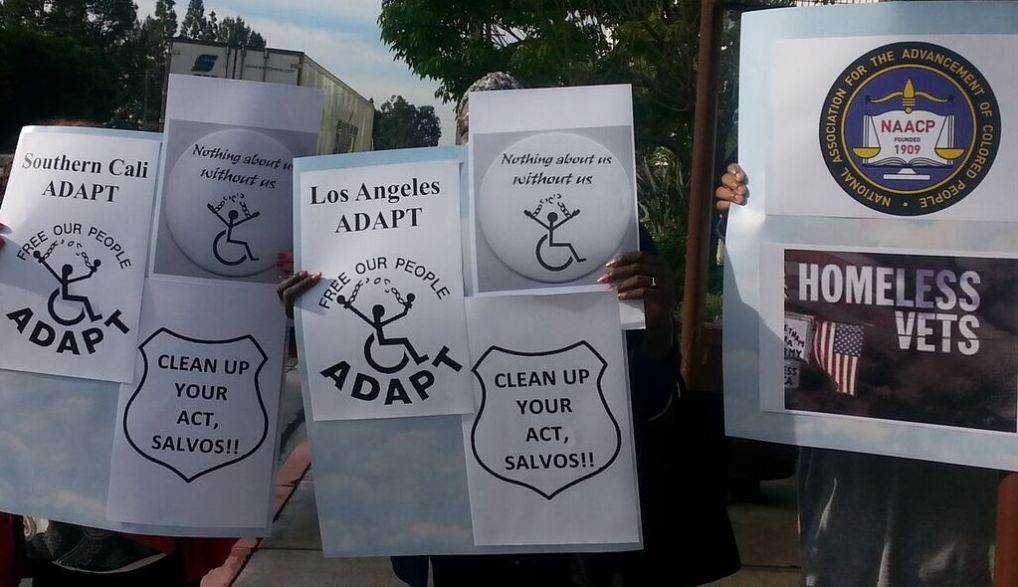International Protest Against Salvation Army Bell Shelter in LA in April 2016