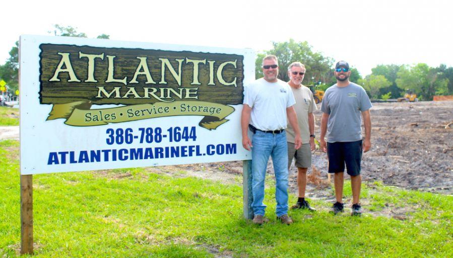 Eric Garvey & Tim Newslow - Betnr Construction, Brad Wiles of Atlantic Marine.