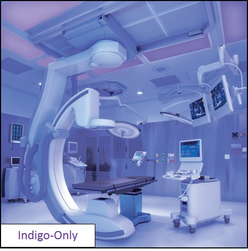 Indigo-Clean™ light fixtures for operating rooms