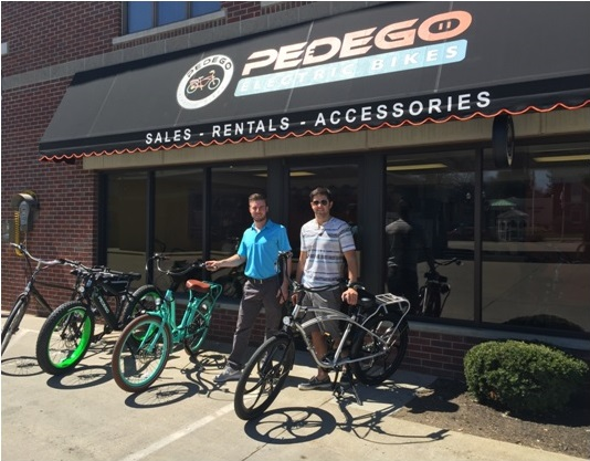 Pedego Buffalo staff Justin Cornell and John Capriotto