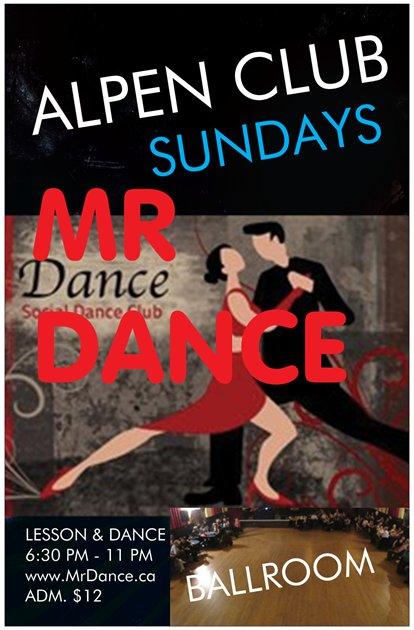MR DANCE POSTER
