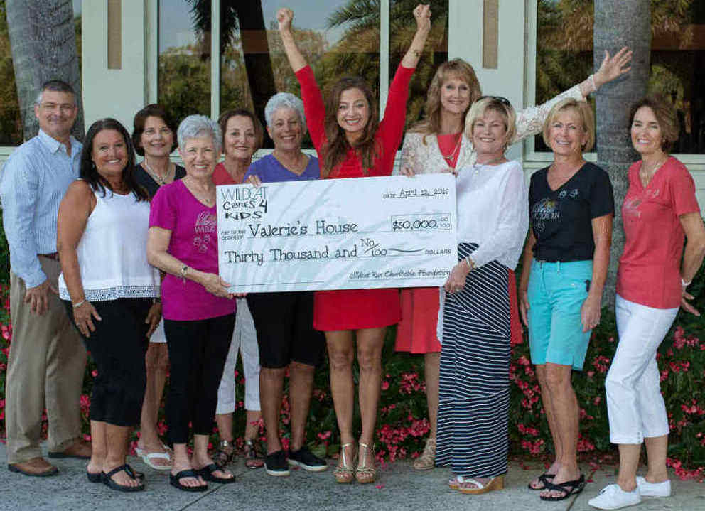 Wildcat Run Foundation presents $30,000 check to Valerie's House
