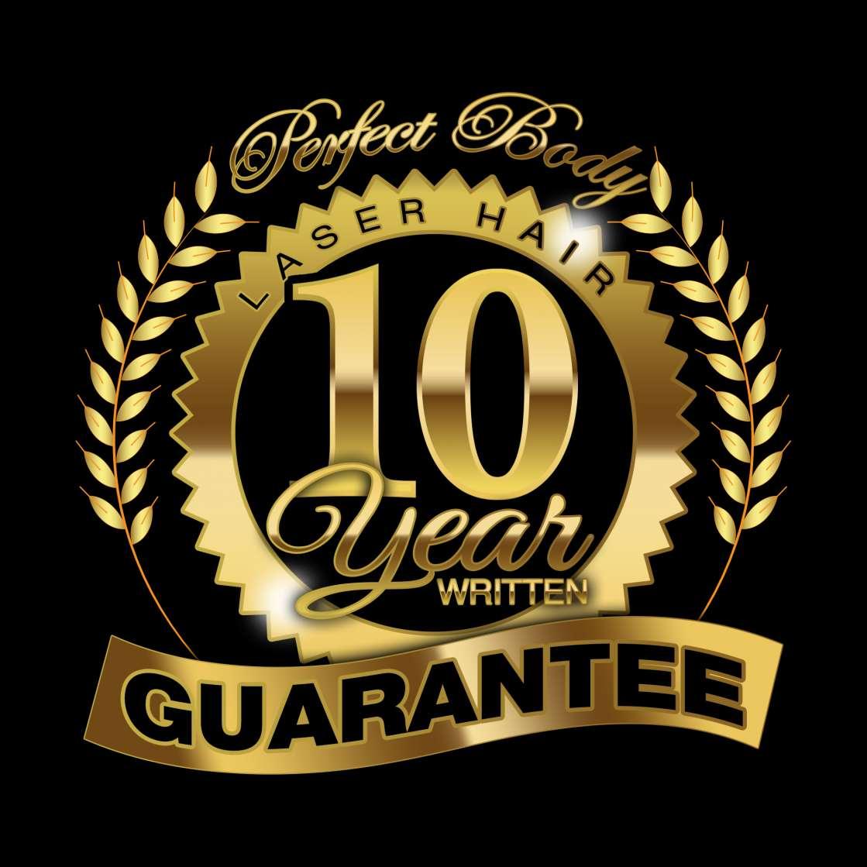Perfect Body Laser Hair 10 Year Written Guarantee