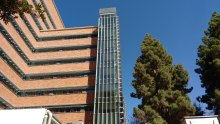 Exterior stair tower at UCLA South Tower
