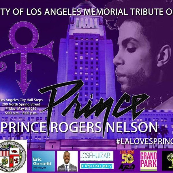 Prince Tribute in DTLA on May 6, 2016 at 5PM