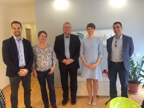 The Austrian delegation visitng Correlata
