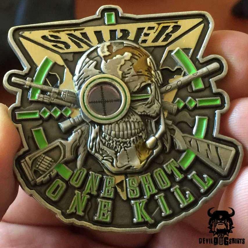 "Sniper ""One Shot, One Kill"" Hunter of Gunman Coin"