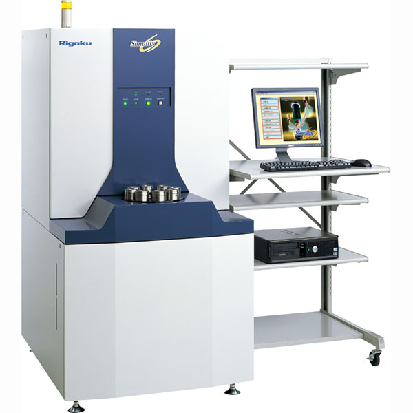 Rigaku Simultix 14 simultaneous wavelength dispersive XRF spectrometer.