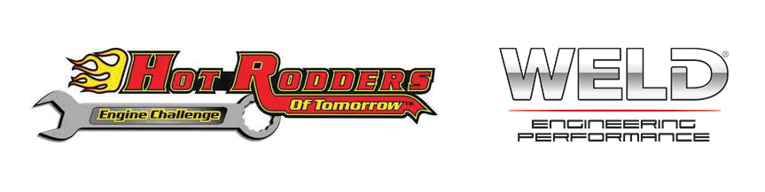 L-R: Hot Rodders of Tomorrow Logo and WELD Logo