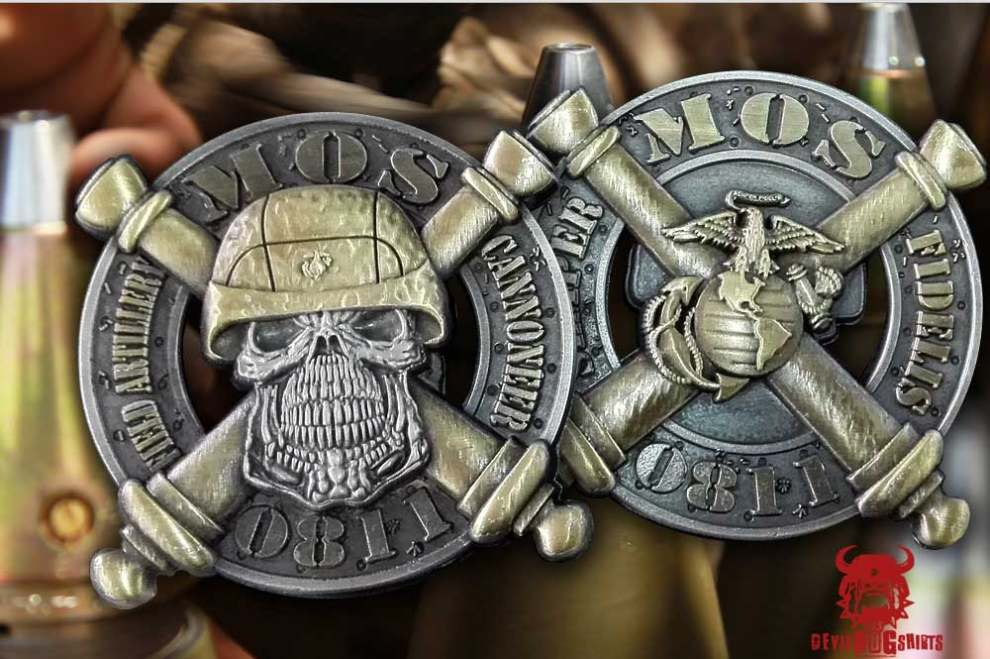 0811 Field Artillery Cannoneer MOS Coins