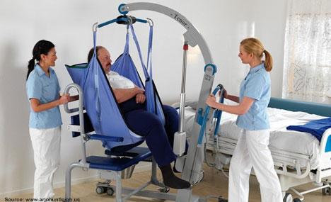 Nurses Moving Fat Patient