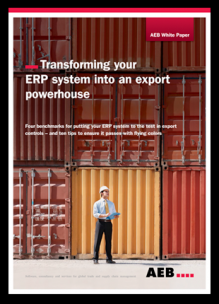 "New white paper: ""Transforming your ERP system into an export powerhouse"""