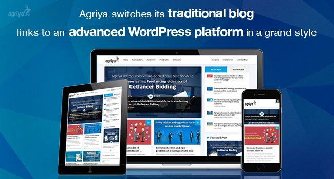 Agriya Upgraded to New Blog