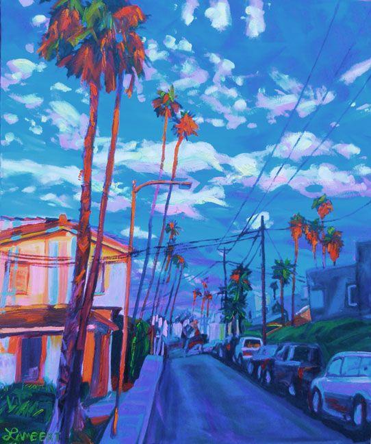 Orange Palms, Bonnie Lambert, Oil Painting - 20 x 24