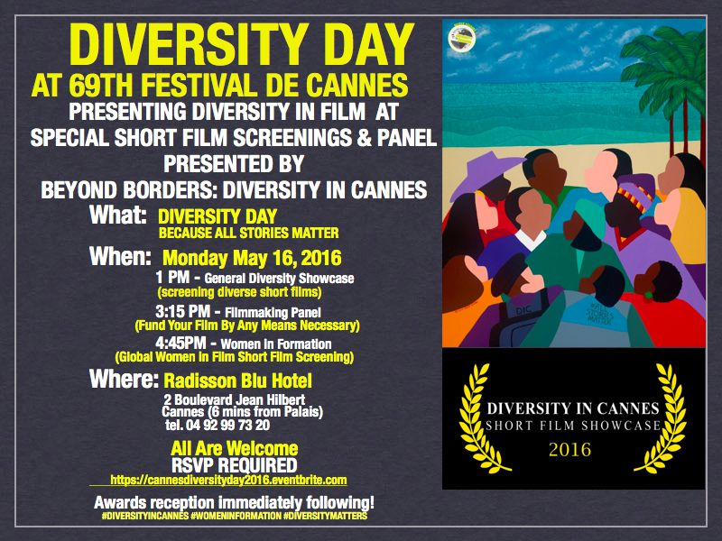 2016 Diversity in Cannes Diversity Day Post Card