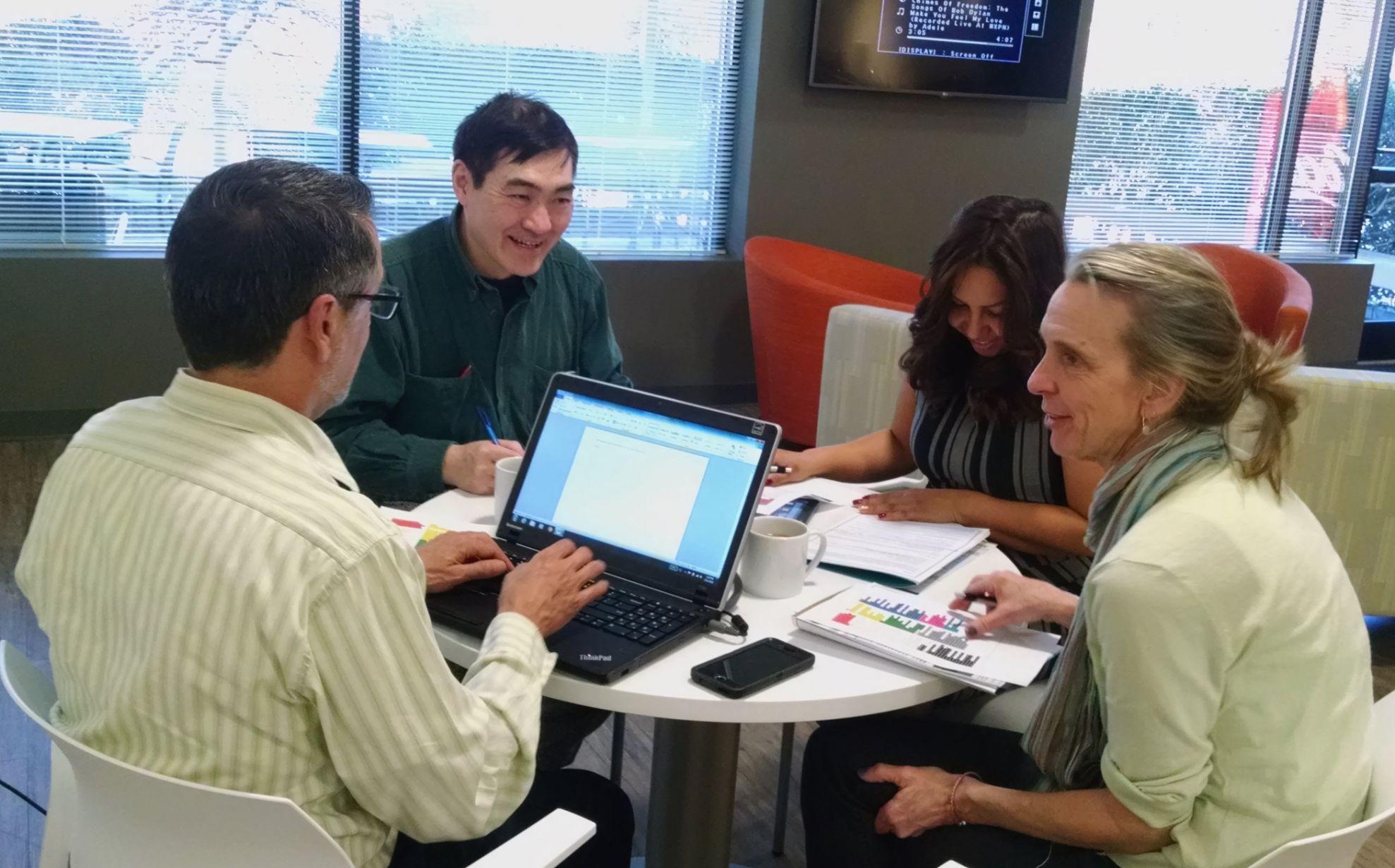 JTA panelists discussing healthcare interpreter's job tasks
