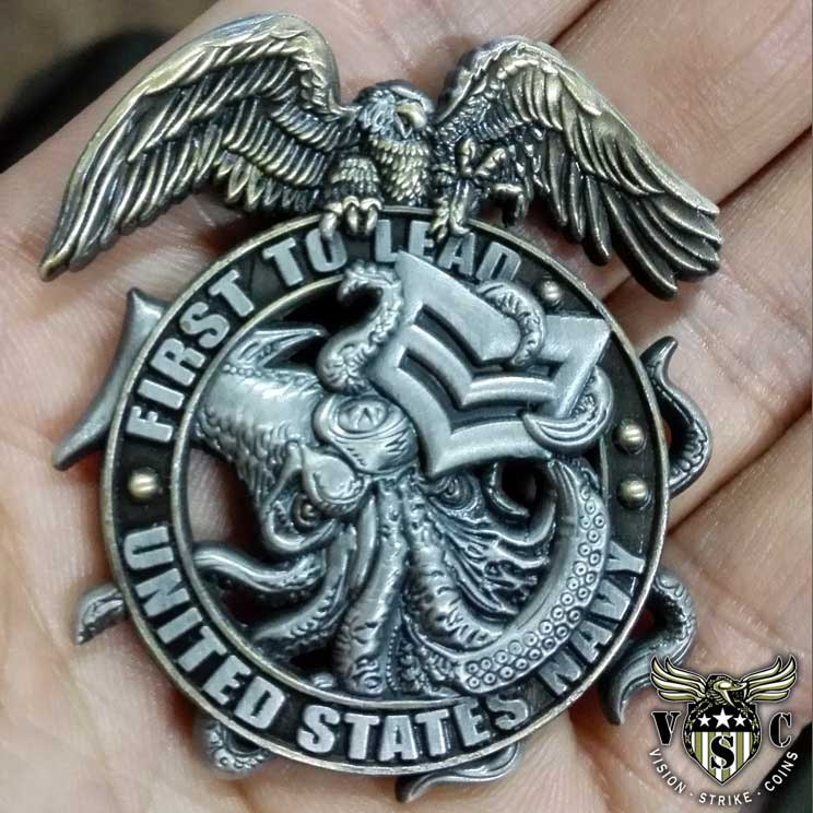 US Navy 1st to Lead 1st Class Petty Officer Coin