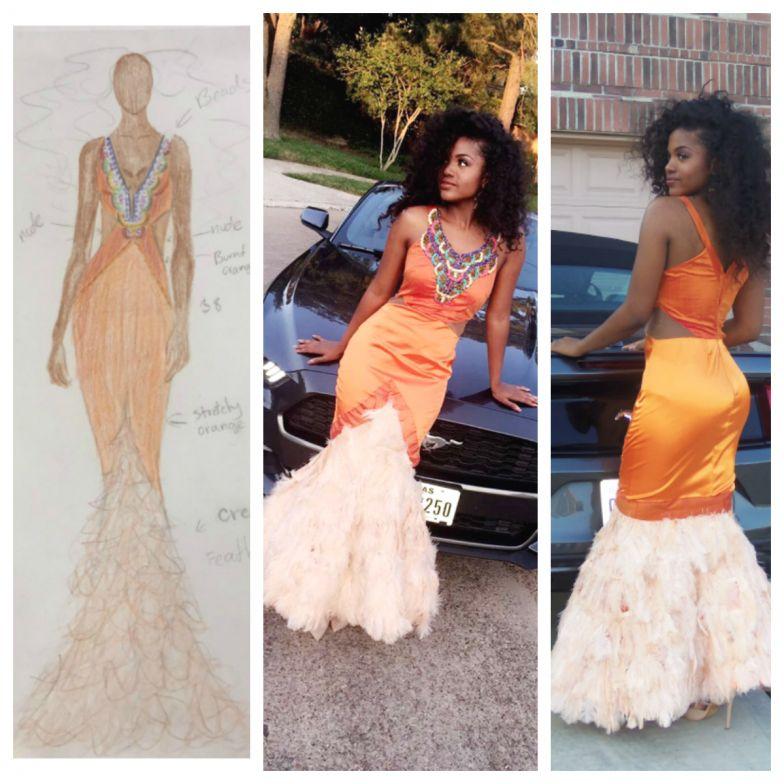 A JaEll Design original prom dress worn by designer