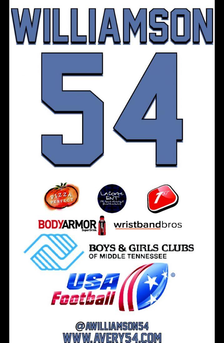 2016 Avery Williamson Football Camp Sponsors