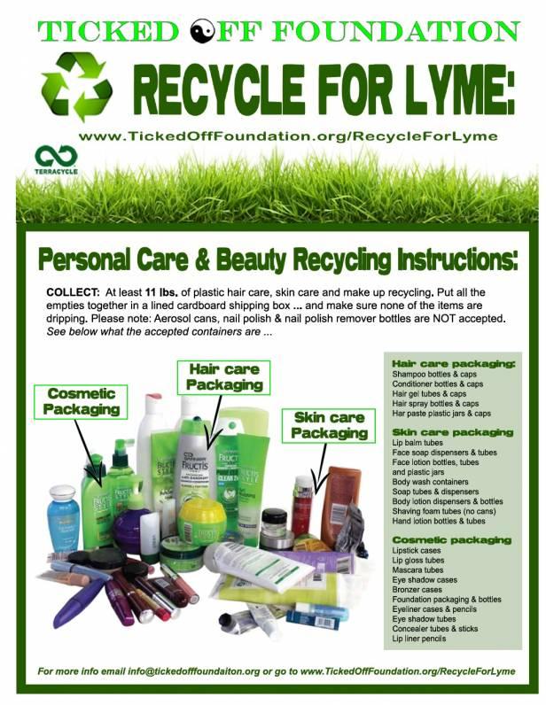 Recycle for Lyme www.TickedOffFoundation.com/recycleforlyme