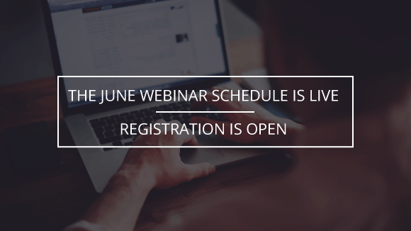 June Webinars Open