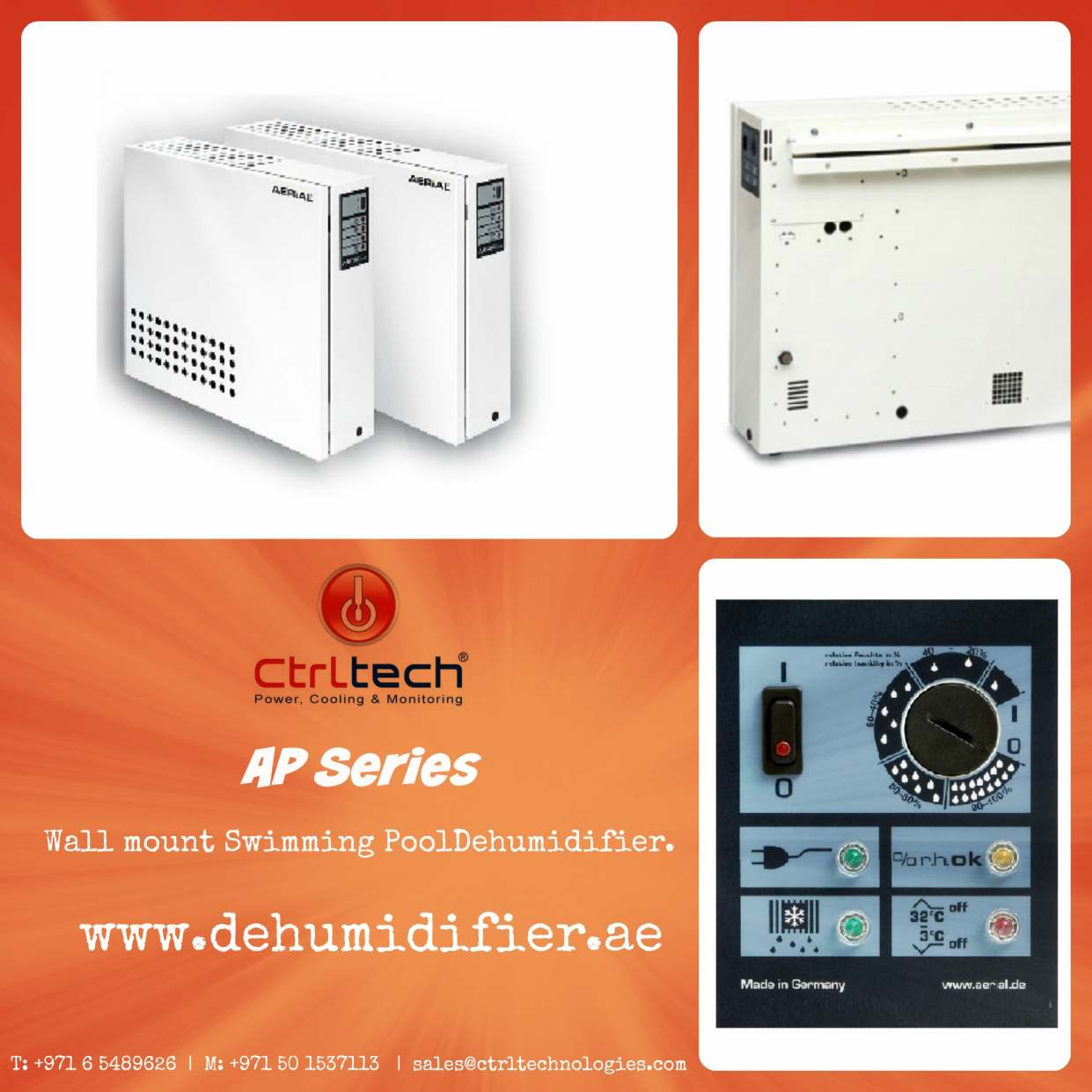 Wall mount Dehumidifiers for Swimming pools -- Control ...