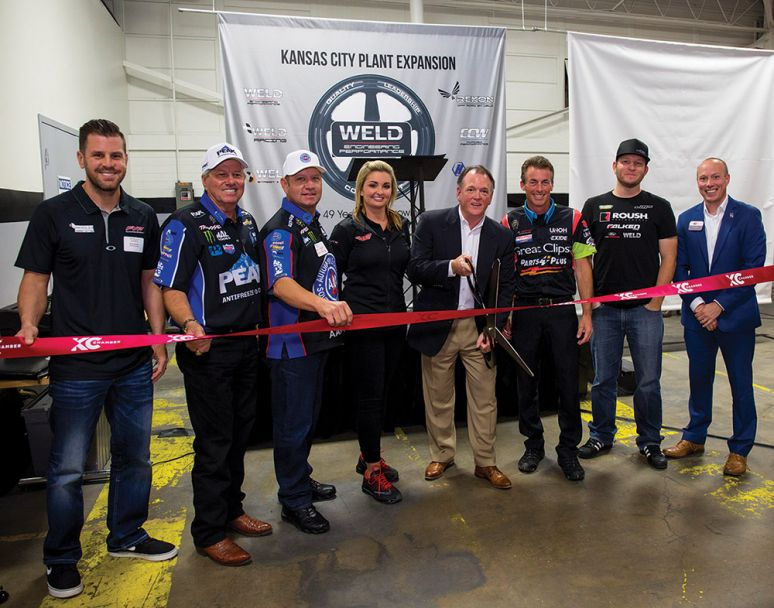 Celebrating the ribbon cutting at WELD headquarters in Kansas City on May 19
