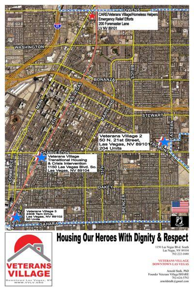 Veterans Village Downtown Las Vegas Site Map