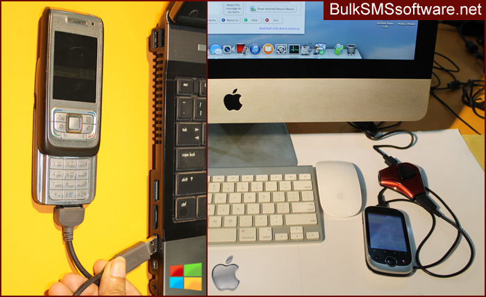 Bulk SMS Software for Windows and Mac OS