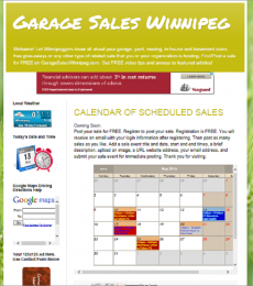 GarageSalesWinnipeg.Com Home Page