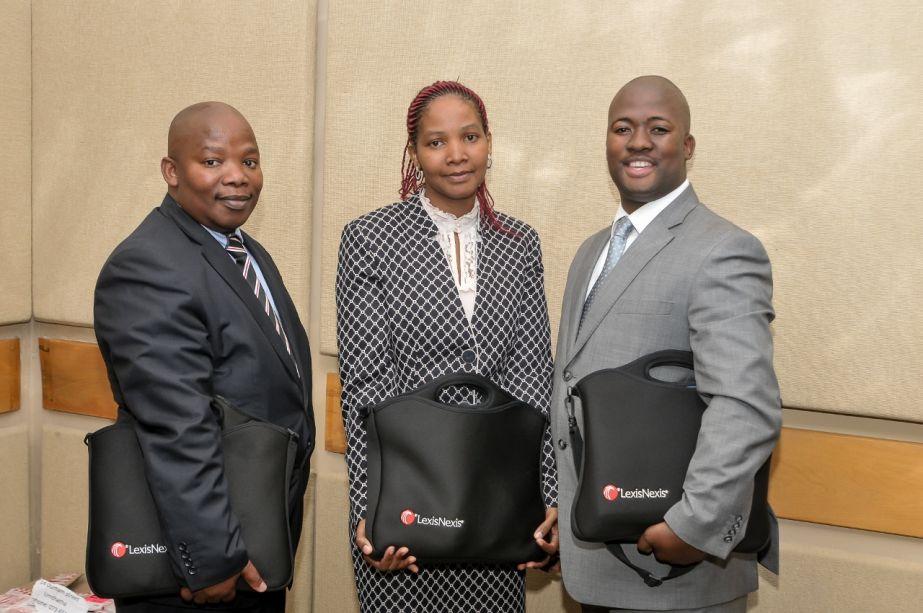 Advocate recipients Mzamo Swana, Lungelwa Mncotsho-Boya, Zuki Badi