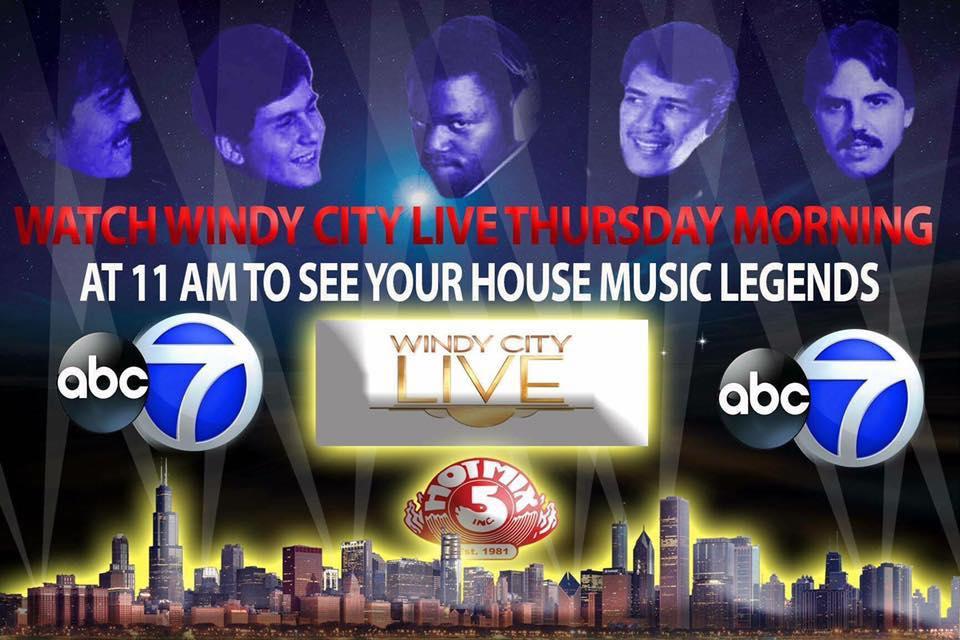 Hot Mix 5 DJs LIVE Thursday on Windy City LIVE TV ABC Channel 7 June 2nd 2016