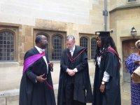 Professor Chris Imafidon,  Dr Ralph Walker, Dean of Degrees & Miss O. Akerele