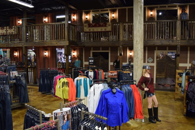 A picture from the balcony at the new Skip's Western Outfitters in Daytona Beach
