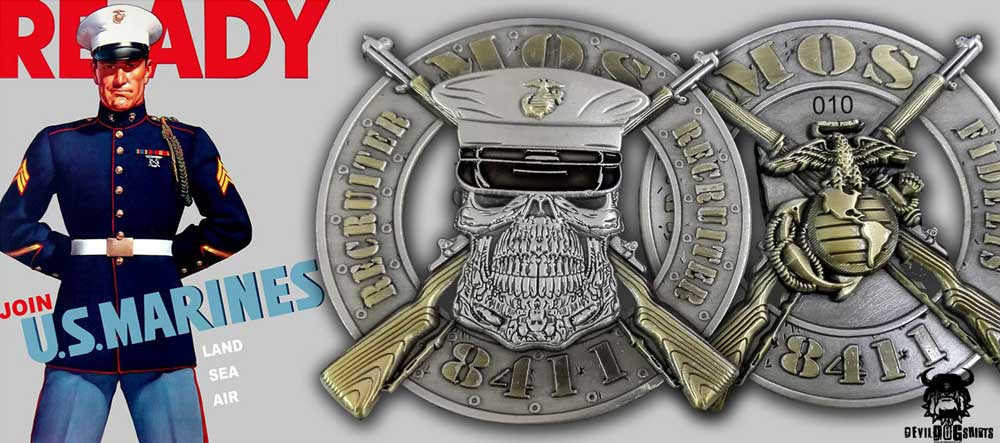 US Marine Corps Recruiter MOS Coin