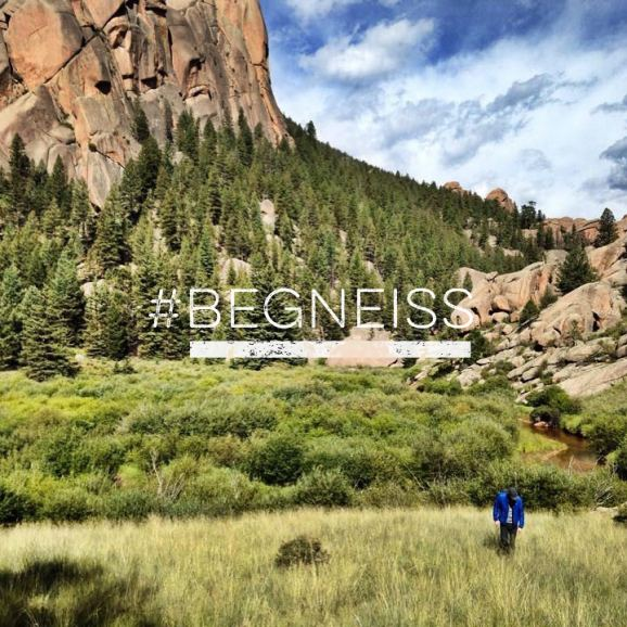 #gneisslife climbers on an approach in the South Platte #begneiss