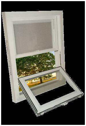 Double Hung Window with Tilt and Slide Blinds