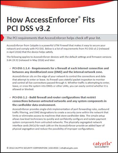 How AccessEnforcer Fits PCI DSS v3.2