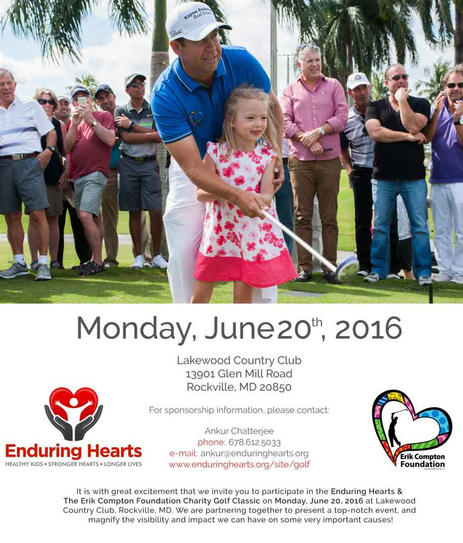 Enduring Hearts & The Erik Compton Foundation Host Charity Golf Outing