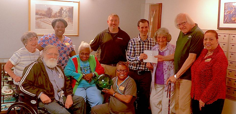 Residents and Staff of Ingleside Homes Receive Donation from Grainger Foundation