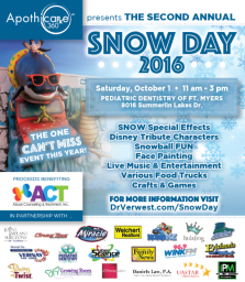 Lee Family News - July Snow Day 2016 Ad