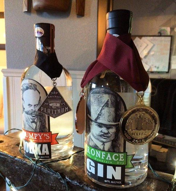 Award winning Grumpy's Vodka & Ironface Gin