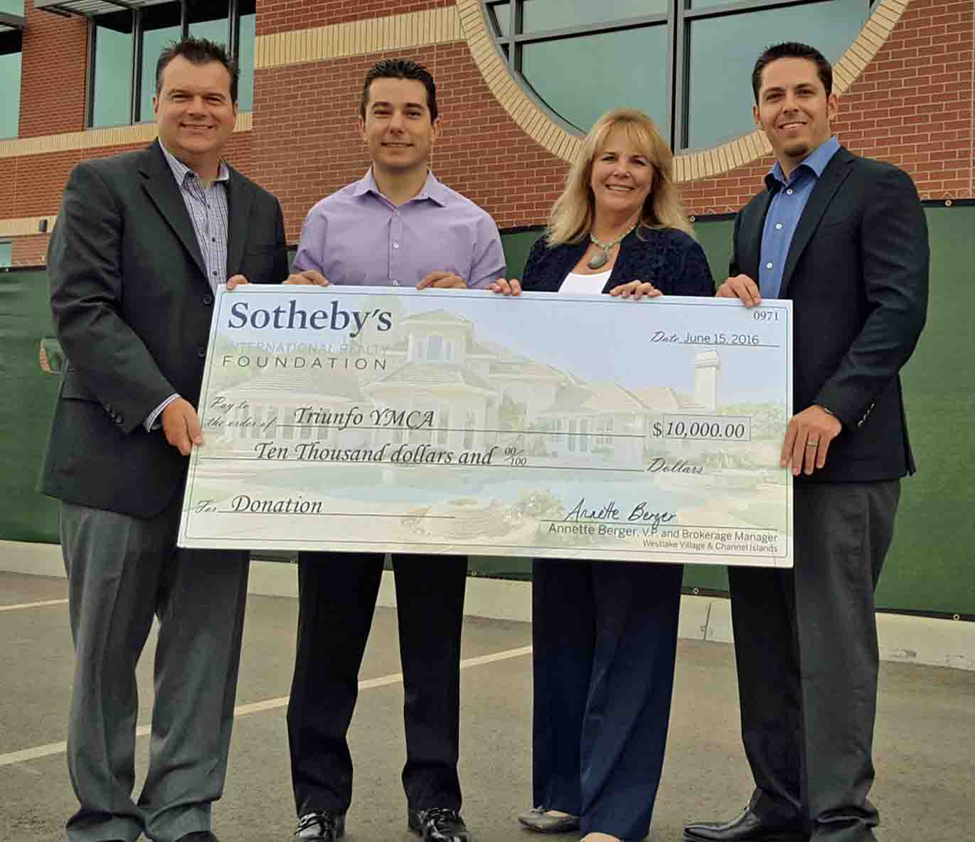Sotheby's donation to the Triunfo YMCA